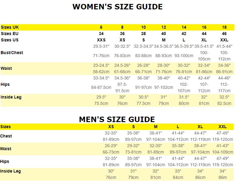 0e922d46e18 Størrelses guide for Ronhill tøj: