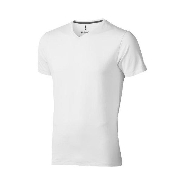 Kawartha T shirt med V hals BomuldElastan